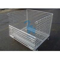 Fireproof Wire Mesh Storage Cages Containers For Hardware Tools 1500kgs Loading Capacity