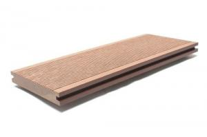 China Sunshien WPC Outdoor solid wood Flooring composite decking board also used for porch and railing on sale