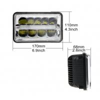5 inch 45W 6×4 LED Headlight with high/low beam and Diecast aluminum housing