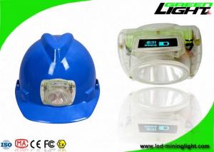 China Portable Lightweight LED Coal Miners Lamp 6.8Ah Rechargeable Battery With OLED Screen on sale