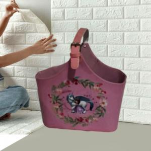China Wine Baskets Wine Gift Baskets Wholesale Faux Leather Gift Hamper Basket Gift Ideas Tote Basket on sale