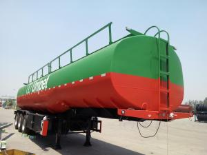 China CIMC  tri-axle diesel fuel tank trailers trailer fuel tanker transport for sale on sale
