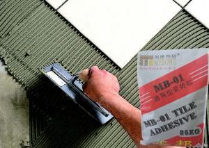 China Pegamento a prueba de agua sintético blanco de la teja para las tejas de cerámica de la pared on sale