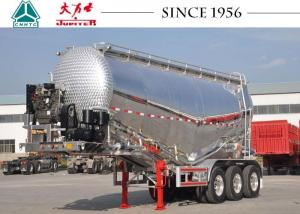 China Lightweight Cement Tanker Truck , Aluminum Tanker Trailer With Engine on sale