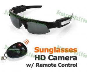 Quality Mini Hidden Sunglasses Camera with Remote Control for sale