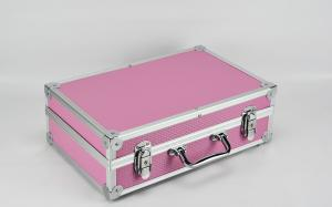 China Custom Pink Aluminum Hard Carrying Case For Electronic Cable Tools Size 360 * 240 * 100mm on sale
