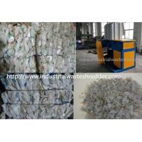 Large Capacity Plastic Bottle Crusher Machine , Double Shaft Scrap Glass Bottle Shredder