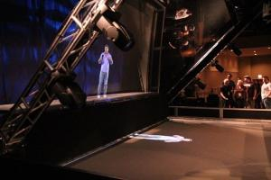Digital Interactive Holographic Projection System For Large Stage