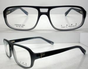China Lightweight Men Acetate Eyeglasses Frames, Black Retro Handmade Glasses Frames on sale