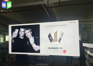 China Fabric Outdoor LED Light Box Sign Display Aluminum Framelss Backlit 80MM Thick on sale