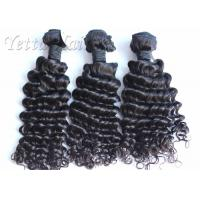 Jet Black Soft Real Malaysian Hair Extensions Deep Curly For Ladies