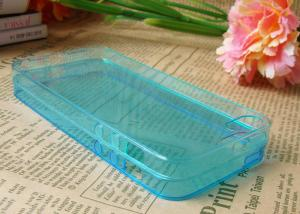 China Soft Clear Green iPhone 5s Cell Phone Cases Slim TPU Light Weight on sale