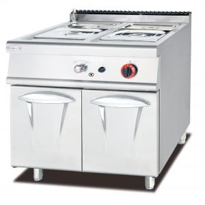 China Hot Food Display Gas Bain Marie With Cabinet Western Professional Kitchen Equipment on sale