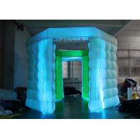China 2 Doors Inflatable Photo Booth Kiosk Diamond Shape With Air Blower on sale