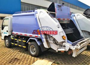 China Compactor Waste Collection Trucks 3 - 5 Tons Loading 4m3 Volume Light Duty on sale
