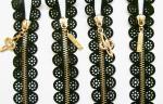 Latón colorido a capital fijo pesado decorativo de la cremallera metálica #5 de la falda del ror del cordón