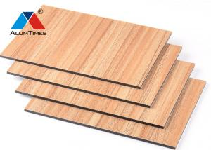 China Wood Look PE Aluminum Composite Panel For Bathroom / Kitchen / Balcony on sale