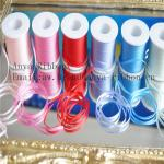 2mm 100% pure silk embroidery ribbon wedding ribbon white solid color silk satin ribbon