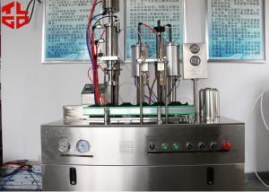 China Bolso semiautomático en de alto rendimiento controlado del PLC de la máquina de rellenar del espray de aerosol de la válvula on sale