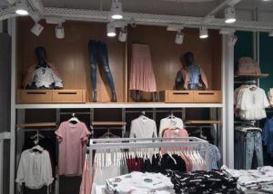 Quality Decorative Commercial Apparel Store Fixtures , Department Store Clothing Racks for sale