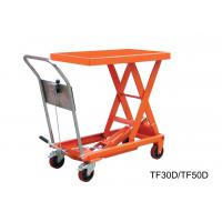 China Vehicular Pneumatic Motorcycle Lift Table , Stationary Scissor Hydraulic Scissor Lift Cart on sale