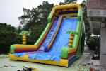 PVC material inflatable dry slide simple slide inflatable palm tree straight slide bright colour cheap price dry slide