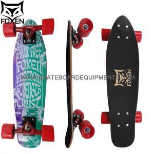 China Wholesale 7Ply canadian maple  2 Wheel Mini wooden skateboard,sport fishboard 24*6  abec-9 shortboard on sale