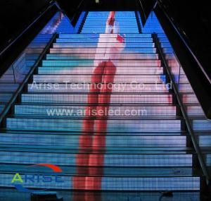 China P5 P4 P6 P8 RGB led video stair display/indoor led stair screen Arise Technology Co., Ltd on sale
