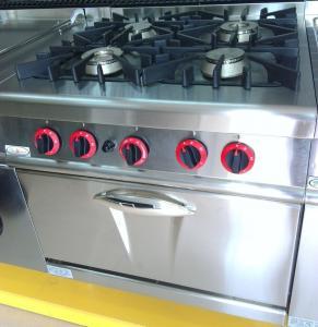 China Queimador do LPG/gás natural 4 que cozinha o fogão de gás de aço inoxidável da ignição impulsiva da escala on sale