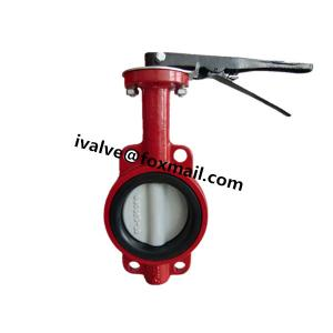 China Cast Iron Rubber Seat Butterfly Wafer Valve on sale