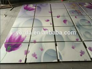China HIgh resolution 3d TV background wall mural ceramic inkjet UV printer on sale