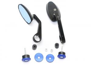 China Retro Handle Motorcycle Rear View Mirrors All Aluminum Multi Color High Definition Glass on sale