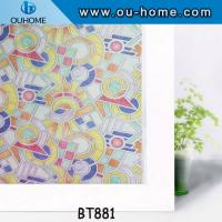 China BT881 Decorative privacy window film stained glass vinyl window film on sale