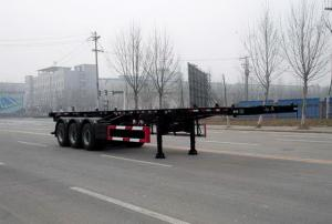 China CLWBao ring 12.4 m 34.5 t long 3-axis high-pressure gas pipe skeleton trailer HD on sale