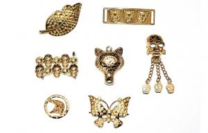China Golden shoe accessories, shoe buckle, shoes chain American style alloy fittings on sale
