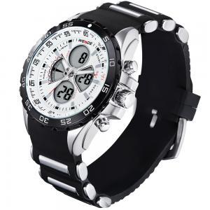 China Rubber strap watch blue LCD waterproof sport watch fashionable sport watch on sale