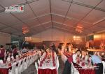China Custom Big Outdoor Event Tents White Party Tents With Tables Chairs Wedding Tent wholesale