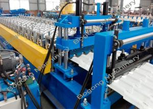 China Color Steel Roof Tile Roll Forming Machine 7.5KW Driving Motor For Construction on sale