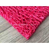 China Red Logo Flooring Carpet Rubber Safety Mats / Water - Proof Rubber Door Mat on sale