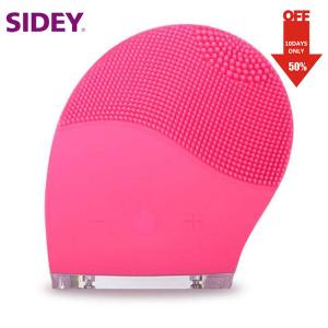 Quality Vibrating Waterproof Home Use Beauty Machine Silicone Skin Deep Cleansing Brush for sale