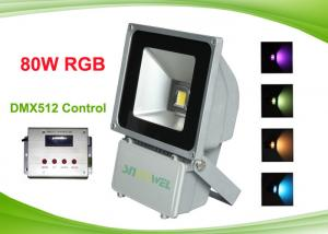 China Outdoor Colorful 80w RGB LED Flood Light with DMX512 Control , RGB LED Landscape Lighting on sale