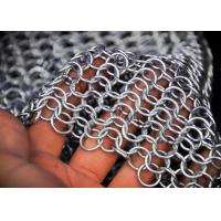 China Chainmail Architectural Metal Mesh Drapery For Wall Coverings , Room Dividers on sale