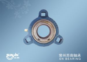 China 3 Bolt Flange Bearing With Adjustable Housing SBFCT206-20 , Tricycle / Auto Axle Bearing on sale