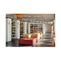 China Cultural center Study Architecture project design by White wood bookcase and Reading desk on sale