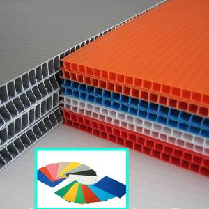 China 2440x1220mm 4x8 3mm 5mm PP Hollow Sheet , Corrugated Plastic Sheet on sale