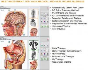 Bioresonance Health Scan and Therapy Metatron NLS Hunter 4025 with