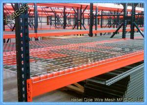 China zinc plated Metal Wire Mesh Decking Waterfall 3 Channel Step For warehouse Pallet Racking on sale