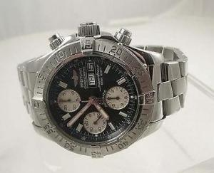 China BREITLING Superocean Automatic Chronograph Stainless Steel Watch Includes Box on sale