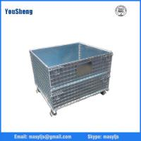 Heavy duty european galvanized nesting storage wire mesh container
