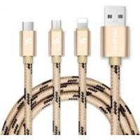 Apple Noodles 3 In 1 Lightning USB Cable 1M Length Nylon Braided Outer Material